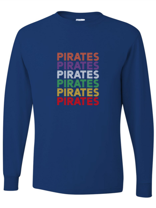 """""""Pirates"""" Repeat Youth Long Sleeve Tee"""