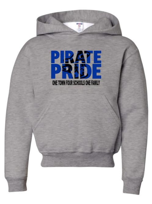 """""""Pirate Pride"""" Adult Hooded Sweatshirt"""