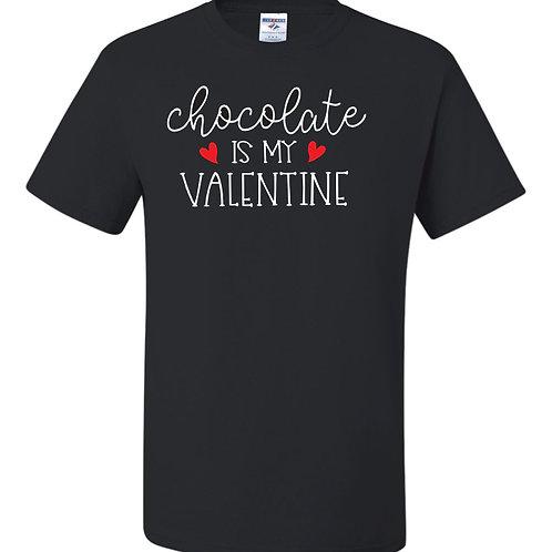 """Chocolate is My Valentine"" Short Sleeve Tee"