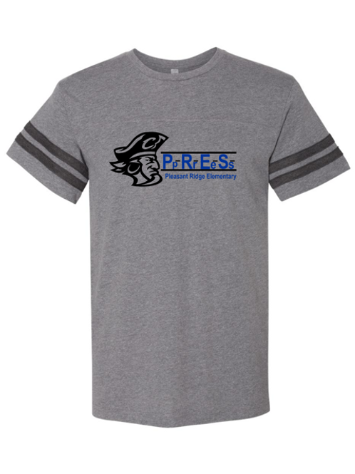 """""""P.R.E.S."""" Adult Football Jersey Tee"""