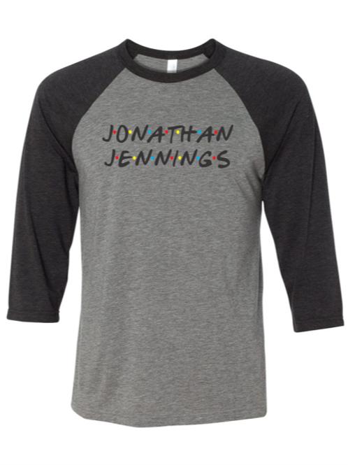 """Jonathan Jennings"" Adult Baseball Tee"