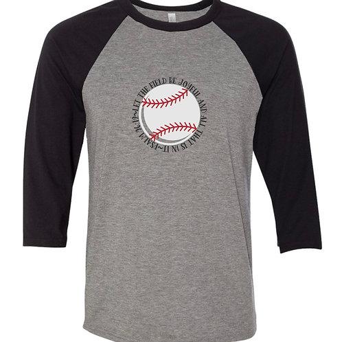 """Let the Field Be Joyful"" Baseball Tee"