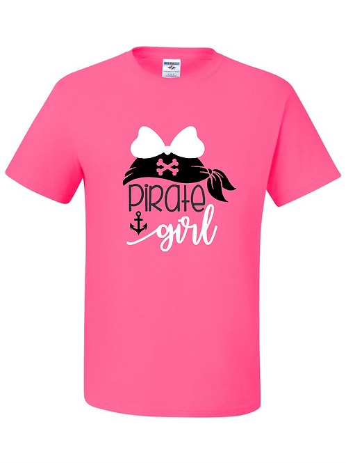 """Pirate Girl"" Youth Short Sleeve Tee"