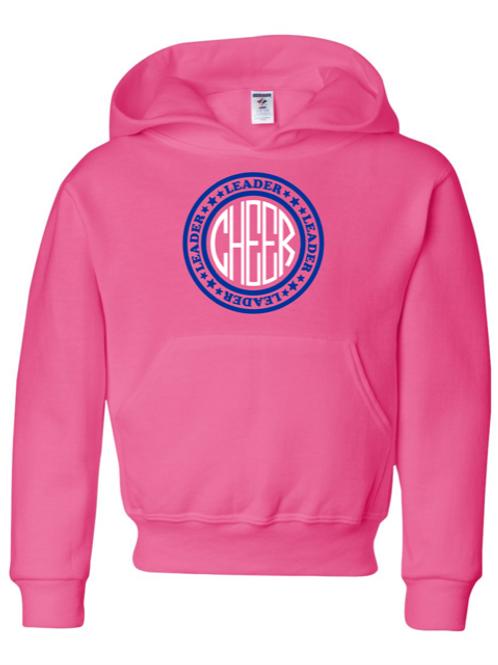 """Cheer"" Youth Hooded Sweatshirt"