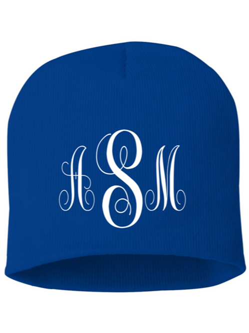 Monogrammed/Personalized Embroidered Knit Beanie