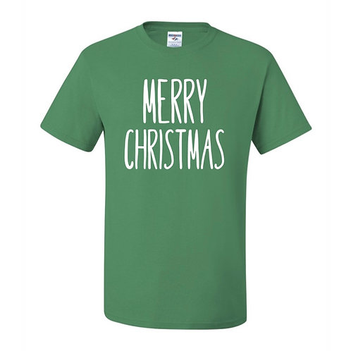 """Merry Christmas"" Adult Short Sleeve Tee"