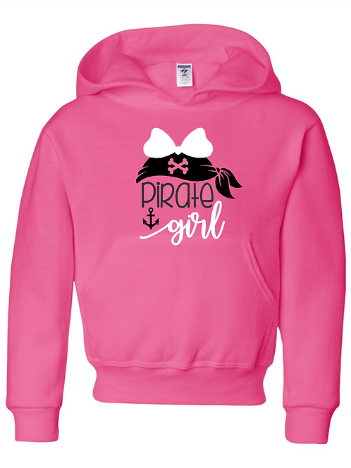 """Pirate Girl"" Adult Hooded Sweatshirt"