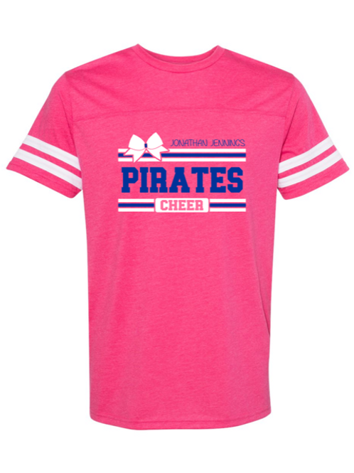 """Pirates Cheer"" Adult Football Jersey Tee"