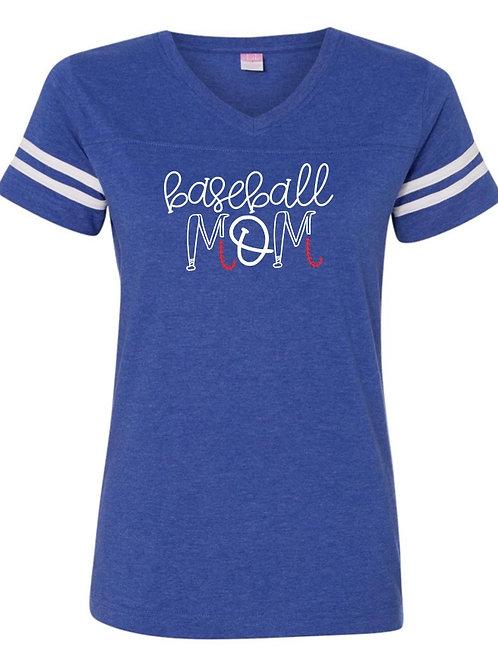 """Baseball Mom"" Jersey Tee"