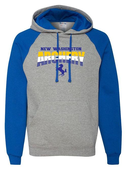 Raglan Hooded Sweatshirt