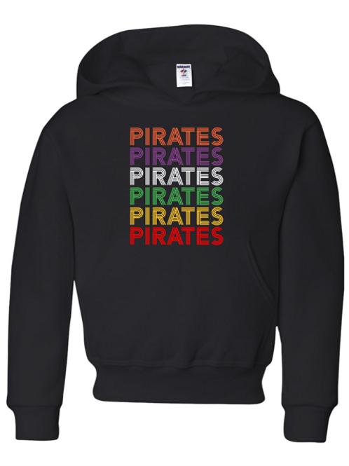 """Pirates"" Repeat Adult Hooded Sweatshirt"