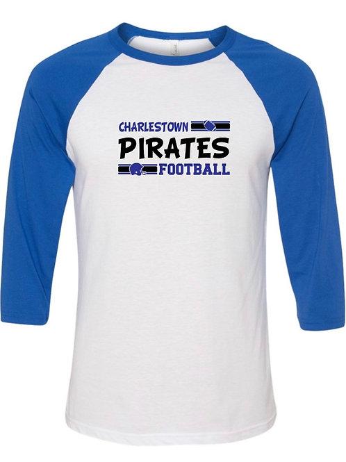 """Charlestown Pirates Football"" Baseball Tee"