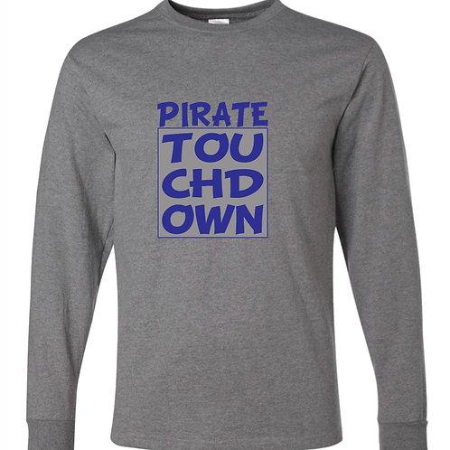 """Pirate Touchdown"" Long Sleeve Tee"