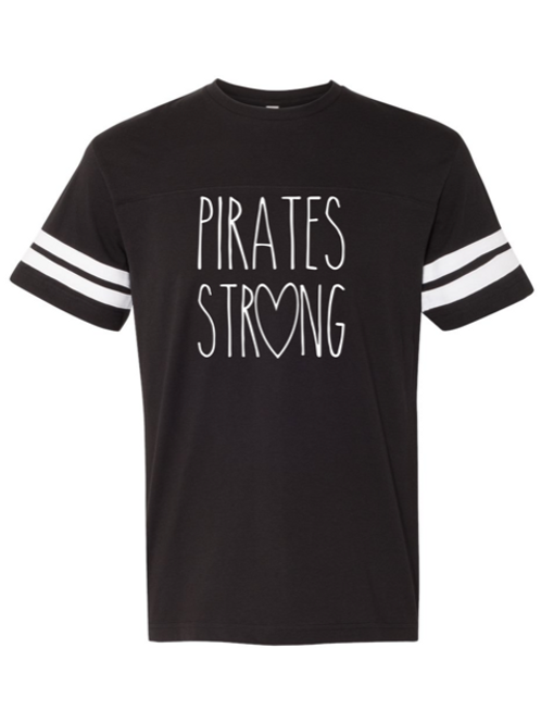 """Pirates Strong"" Youth Football Jersey Tee"