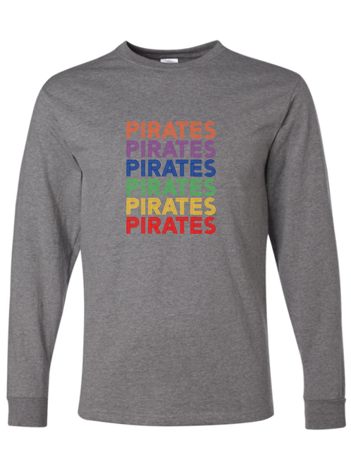 """""""Pirates"""" Repeat Adult Long Sleeve Tee"""