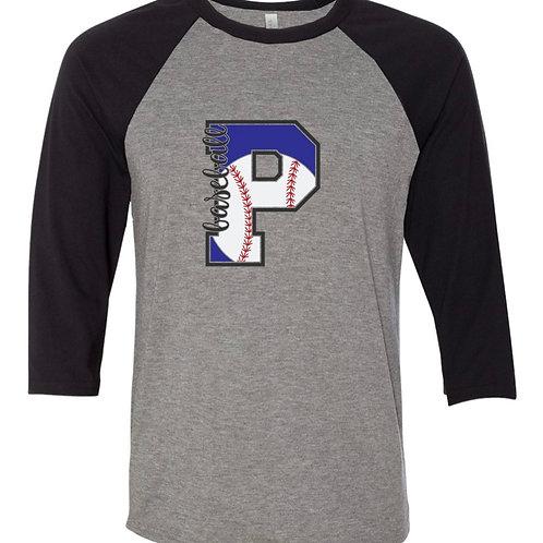 """Pirates Baseball P"" Baseball Tee"