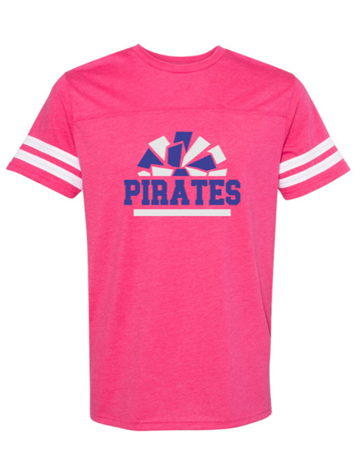 """Pirates Pom Pom"" Adult Football Jersey Tee"
