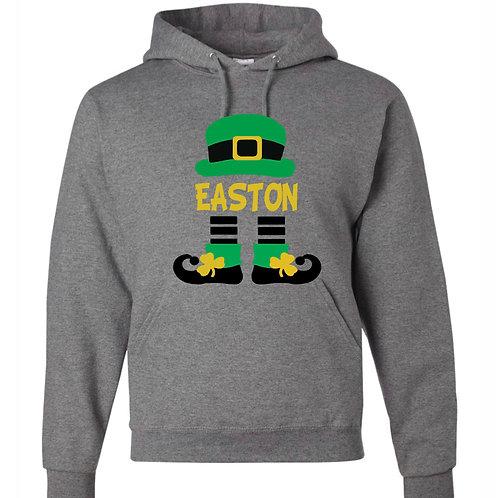 """Boy's Personalized Leprechaun"" Hooded Sweatshirt"