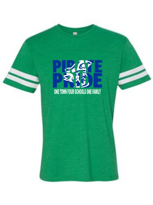 """Pirate Pride"" Toddler Football Jersey Tee"