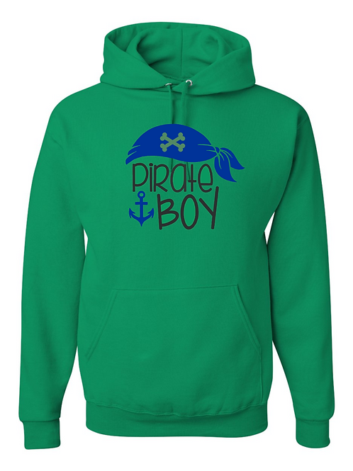 """Pirate Boy"" Youth Hooded Sweatshirt"