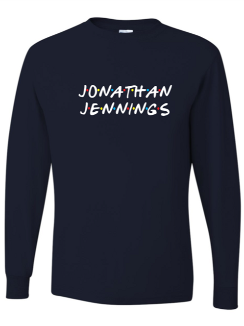 """Jonathan Jennings"" Youth Long Sleeve Tee"