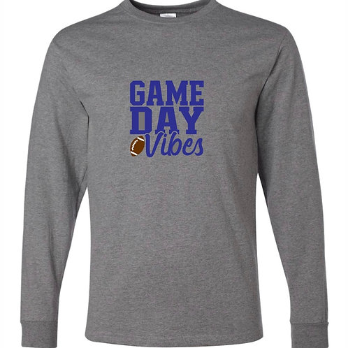 """""""Game Day Vibes"""" Long Sleeve Tee"""