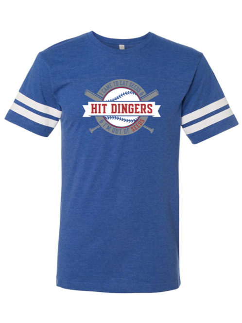 """Hit Dingers"" Adult Football Jersey Tee"