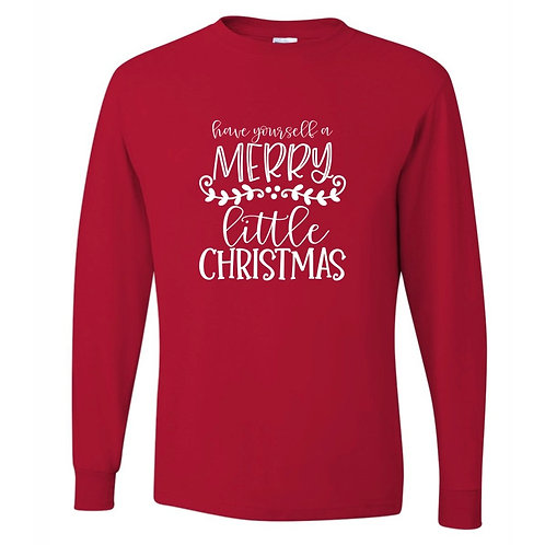 """Merry Little Christmas"" Youth Long Sleeve Tee"