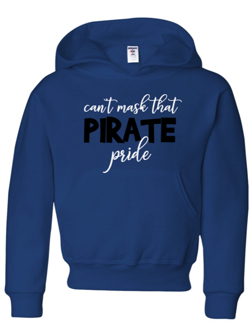 """Can't Hide Pirate Pride"" Youth Hooded Sweatshirt"
