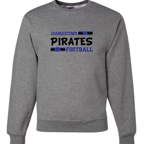 """Charlestown Pirates Football"" Crewneck Sweatshirt"