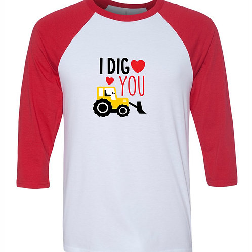 """I Dig You"" Baseball Tee"