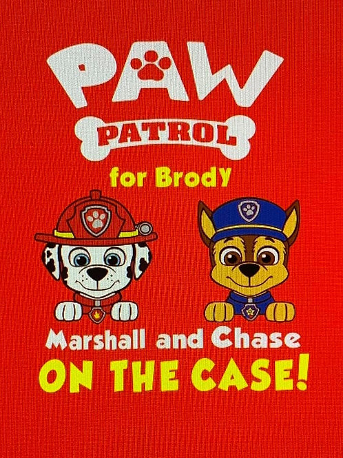 """Paw Patrol for Brody"" Youth Short Sleeve Tee"