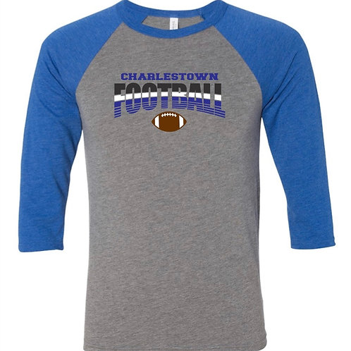 """Charlestown Football"" Baseball Tee"