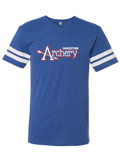 """Charlestown Archery"" Youth Football Jersey Tee"