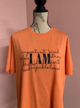"""""""I Am"""" Short Sleeve Tee"""