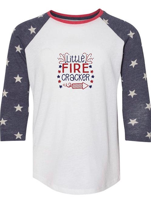 """""""Little Firecracker"""" Youth Baseball Tee"""