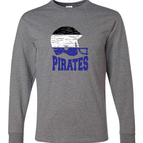 """Football Helmet"" Long Sleeve Tee"