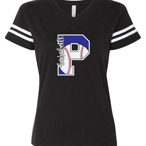 "Women's ""Pirates Baseball P"" Jersey Tee"