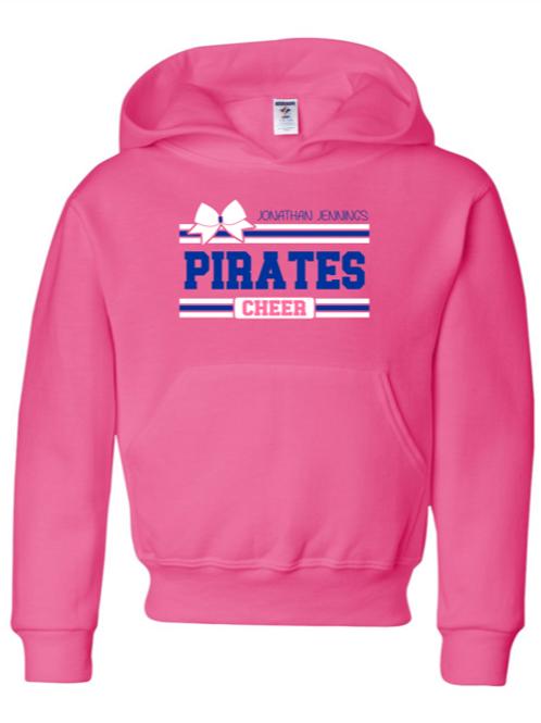 """Pirates Cheer"" Youth Hooded Sweatshirt"