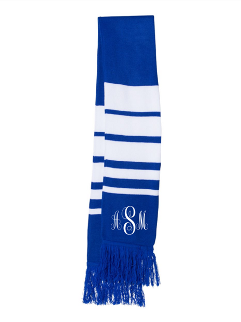 Monogrammed/Personalized Embroidered Knit Scarf