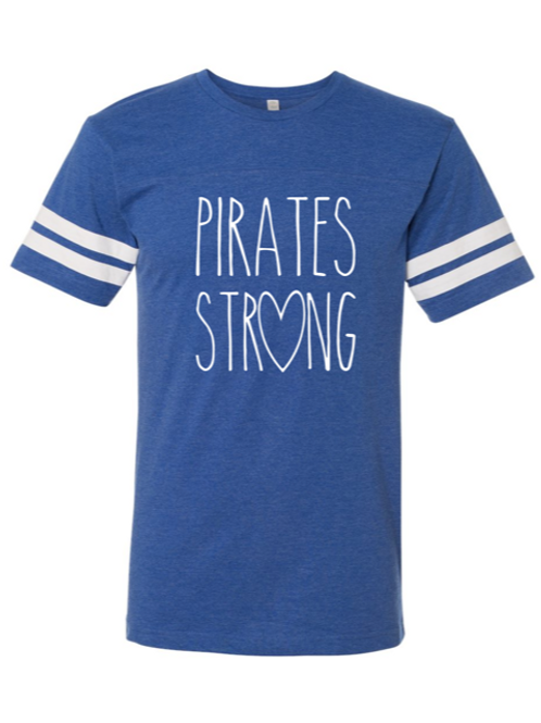 """""""Pirates Strong"""" Adult Football Jersey Tee"""