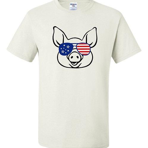 """""""American Pig"""" Short Sleeve Tee"""