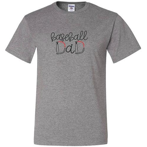 """""""Baseball Dad"""" Short Sleeve Tee"""