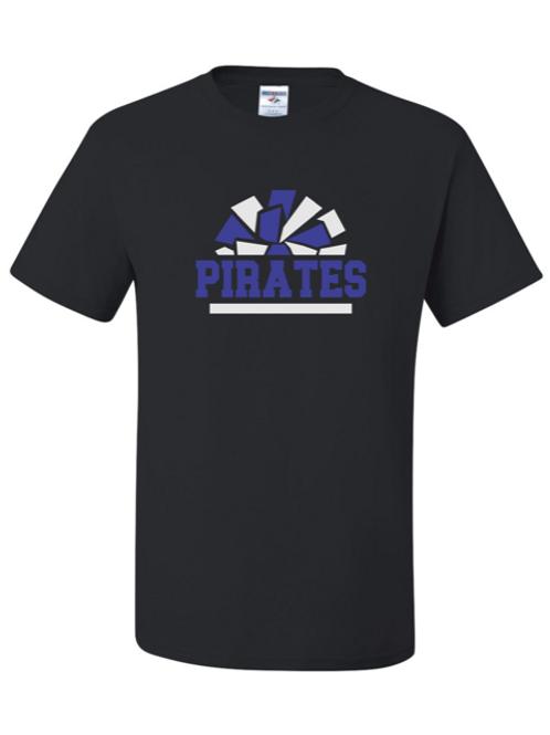 """Pirates Pom Pom"" Adult Short Sleeve Tee"