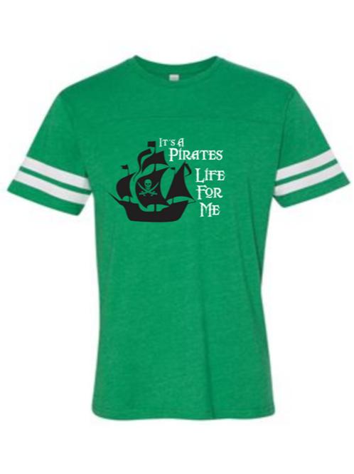 """""""Pirates Life"""" Toddler Football Jersey Tee"""