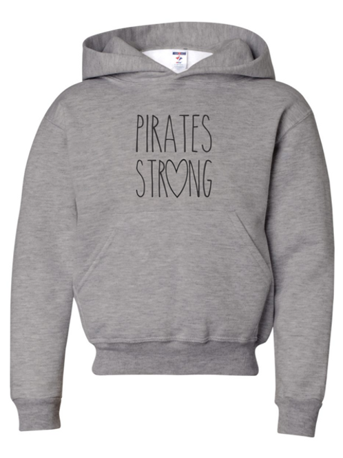 """Pirates Strong"" Youth Hooded Sweatshirt"