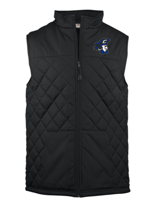 Blue Pirate Head Adult Embroidered Vest
