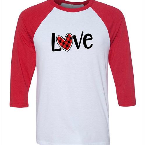 """Love"" Baseball Tee"