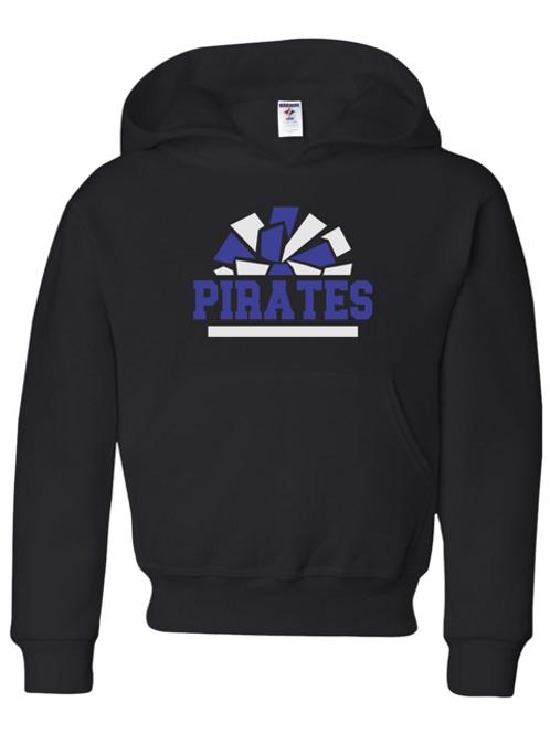 """Pirates Pom Pom"" Adult Hooded Sweatshirt"