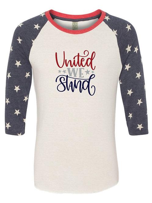 """""""United We Stand"""" Baseball Tee"""